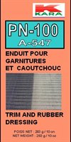 Trim and rubber dressing. garnitures et caoutchouc